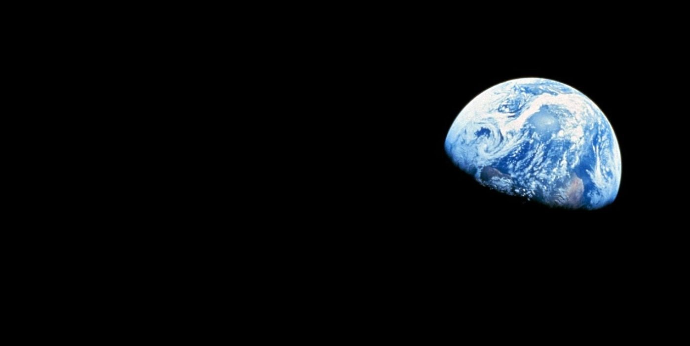 blue and white planet